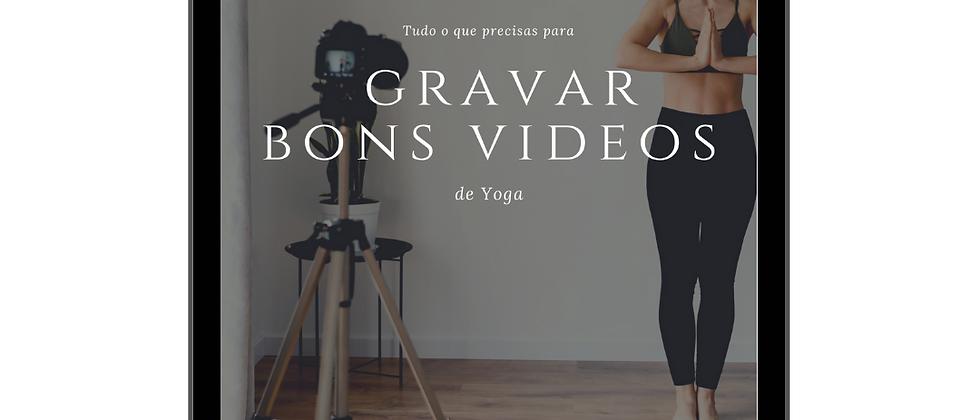 E-book | Tudo o que precisas para  gravar bons vídeos de Yoga