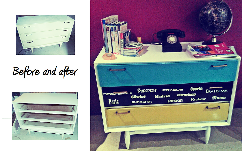 Upcycling, before and after