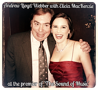 Elicia MacKenzie with Andrew Lloyd Webber at the Premier of 'The 'Sound of Music'