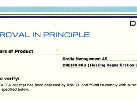 DNV GL grants AiP for Dreifa Energy's floating regas concept