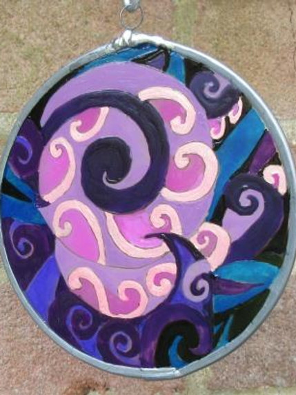 Koru Spirals - Purples and Blues - Medium