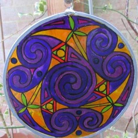 Spirals - Large - Purple saffron background