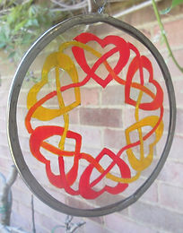 Celtic hearts entwined  - small suncatcher