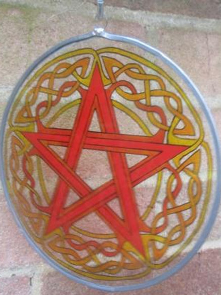 Pentagram in fire colours - Large