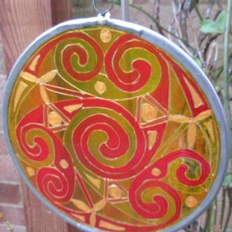 Spirals - Medium - Yellows, reds and gold