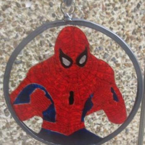 Spiderman fists up- Suncatcher - Small
