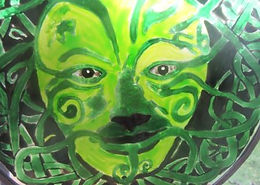 Celtic Green Man with knotwork border