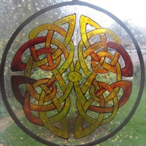 Celtic Reflective Double Knot - Ambers - Large
