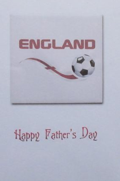 Father's Day Card -England with football swoosh