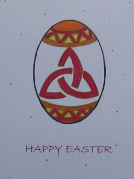 Easter Card - Celtic Egg with triskele