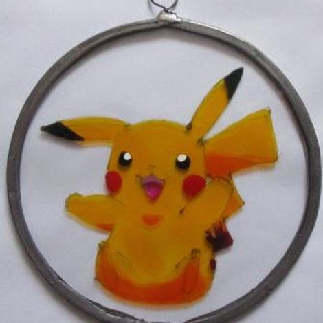 Pikachu Pokémon sitting  - Suncatcher - Small