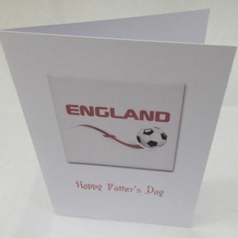 Father's Day Card - England flag with football