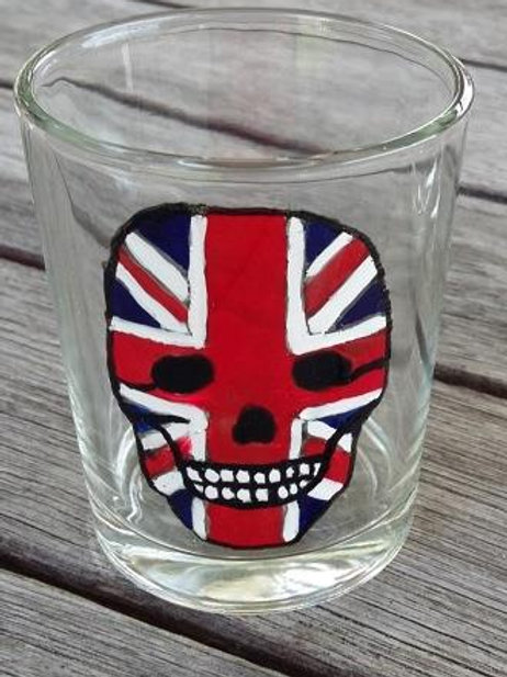 Union Jack Skull Shot Glass or tea light