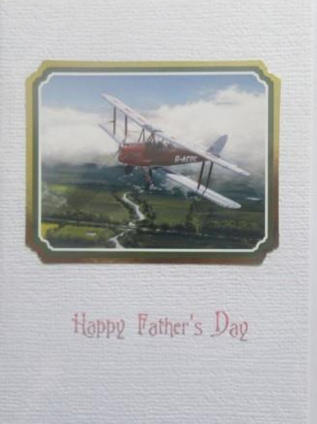 Father's Day Card- Classic Biplane