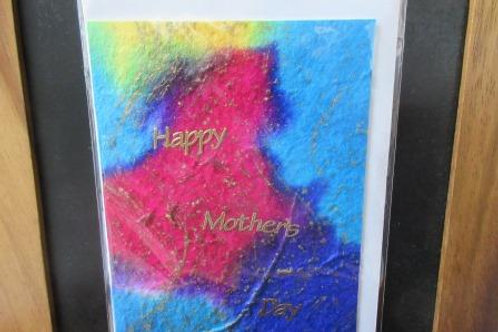 Mother's Day Card - Bright handmade mulberry paper