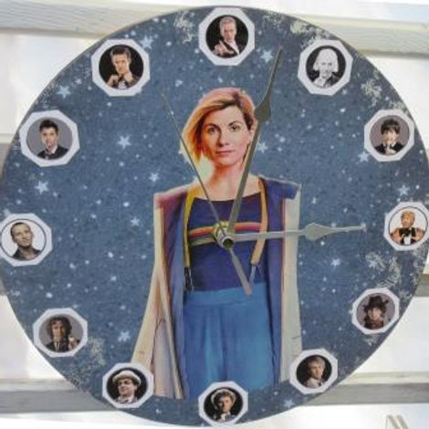 SOLD - Doctor Who - Decoupage Clock