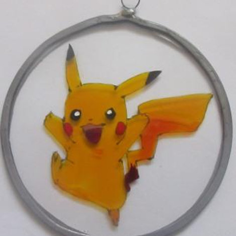 Pikachu Pokémon jumping - Suncatcher - Small