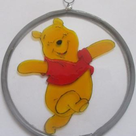 Winnie the Pooh dancing - Suncatcher - Small