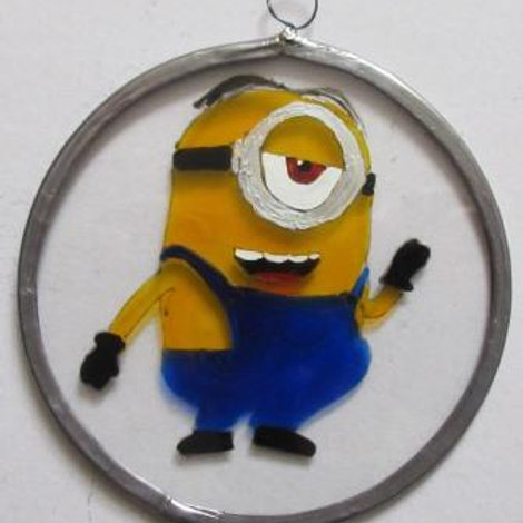 Minion Stuart waving - Suncatcher - Small