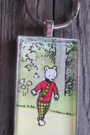 Rupert Bear resin pendant - Rupert walking along