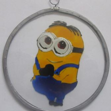 Minion Dave hands together- Suncatcher - Small
