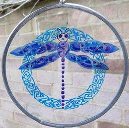 Celtic Knot Dragonfly - Medium - Blues