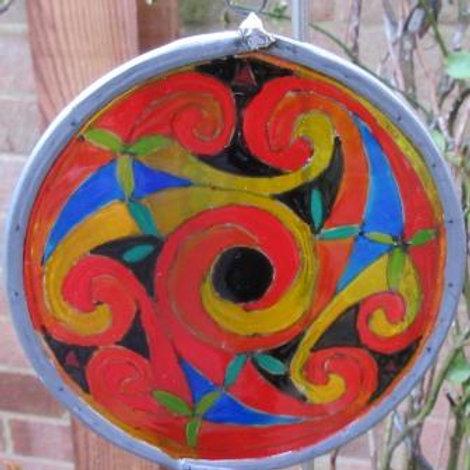 SOLD - Spirals - Small - Bright colours
