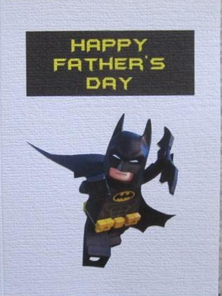 Father's Day Card - Lego Batman with Batarang