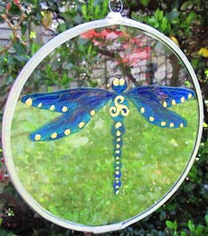 Celtic Dragonfly - Medium - Blues