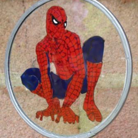 Spiderman crouching - Suncatcher - Small