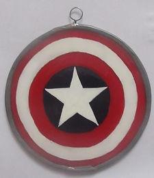 Captain America Shield - Suncatcher - Small
