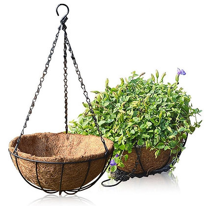 Hanging Planter With Coir Lining (Set of 3 / 12 inch)