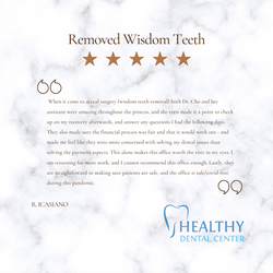 5 star review at healthy dental center
