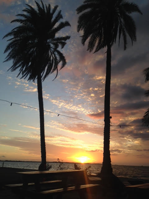 Travel blog - Fiji sunset