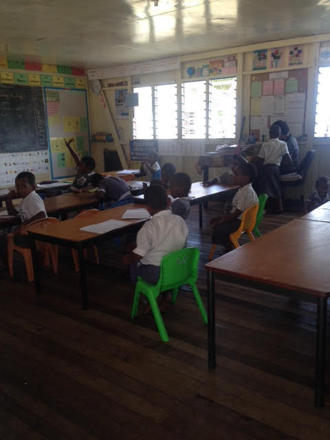 Travel blog - Fiji school