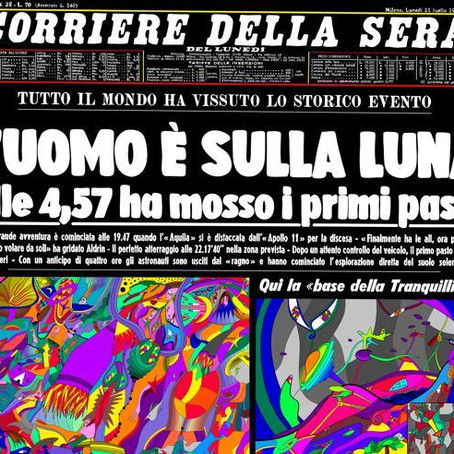 A historical first page of the Corriere becomes (digital) art with NFTs