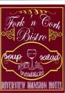 fork n cork bistro sign