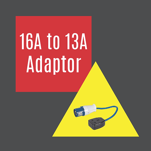 16a to 13a Adaptor Hire - Festival of Wheels