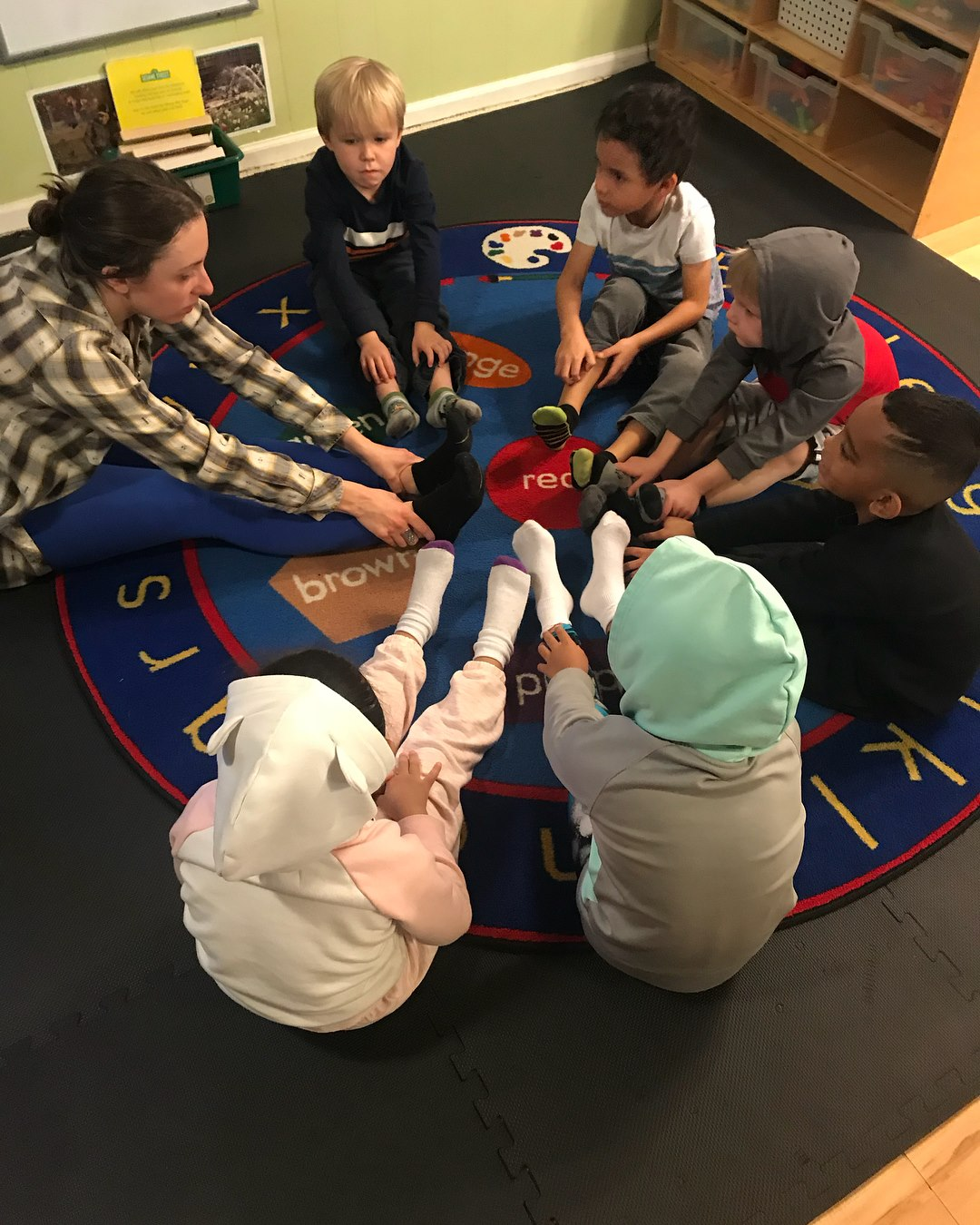 Preschool Students Yoga Class