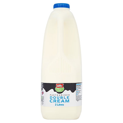 Pasteurised Double Cream 2 Litres