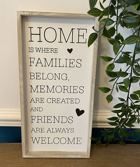 'Home is Where...' Framed Quote