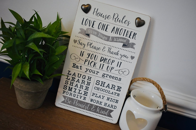 House Rules Plaque