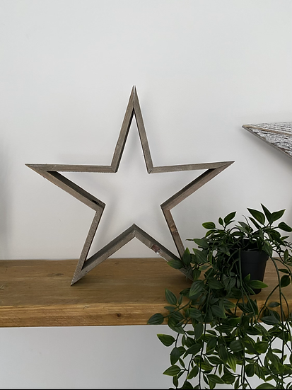 Natural Wooden Star 36cm