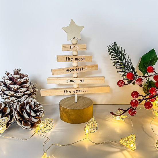 'It's the Most Wonderful Time' Christmas Tree
