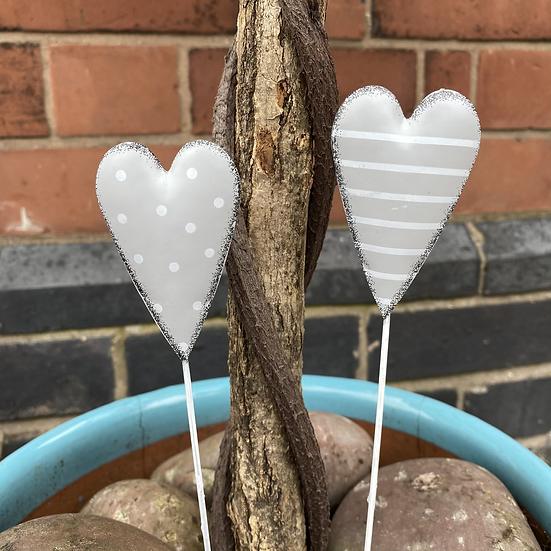 Heart Plant Pot Stake