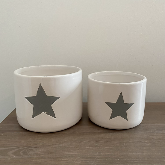 Perfectly Imperfect White Star Pots - incomplete