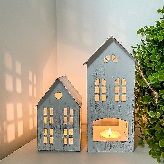 Rustic House Tealight Holder