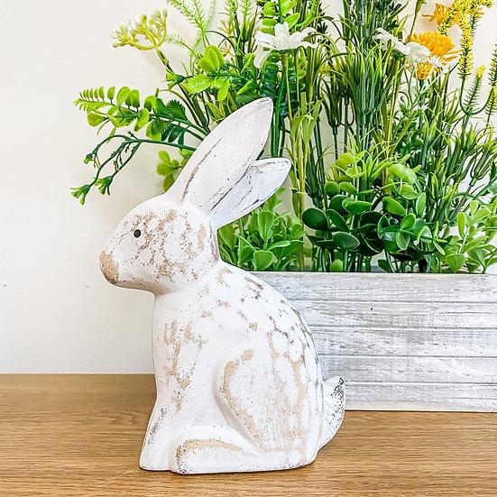 Rustic White Rabbit