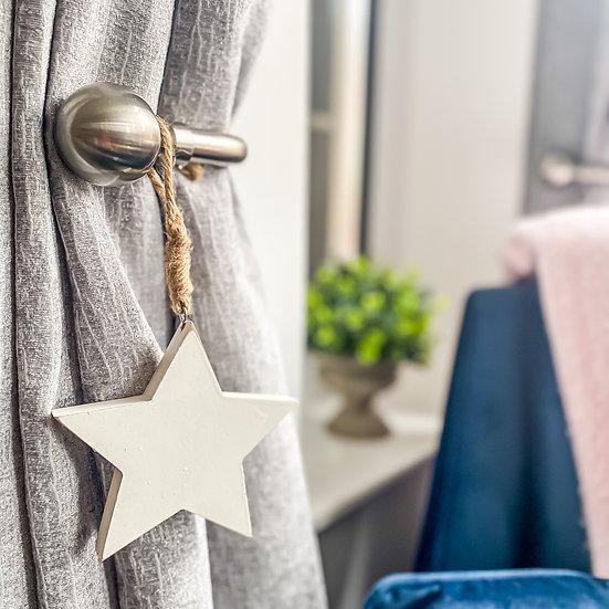 Wooden White Star Hanger