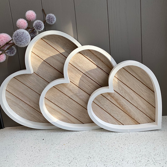 Set of 3 Heart Trays